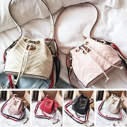 Wholesale Ladies Leather Drawstring Bag - designer bags famous brand Bucket Bag Women High Quality Pu Leather Shoulder Bag Brand Desinger Ladies Crossbody Bags Free Shipping