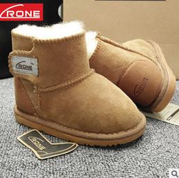 Wholesale Fur Boots Newborn - Baby Girls Snow Boots sheepskin Fur one Warm Toddler Boy Girl First Walker Shoes Infant Boots Newborn soft bottom non-slip Shoes T5040