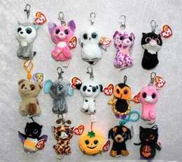 Wholesale Video Game Beanie - TY beanie boos Plush Toys keychain simulation animal TY Stuffed Animals Pendant Keychain super soft 4inch 10cm children gifts