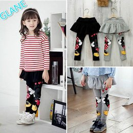 Wholesale Cartoon Girls Tights - 2017 New Baby Girls Clothes Skirt Pants Cartoon Mouse Cute Leggings 2-7Y Girls Skirt leggings for girls tights Spring Autumn