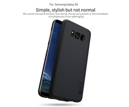 Wholesale S4 Plastic Screen Protector - Case For Samsung Galaxy S8   S8 Plus   s4 NILLKIN Super Frosted Shield back cover with free screen protector and Retail package