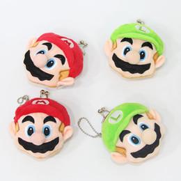 Wholesale Plush Super Mario Keychain - NEW MARIO And LUIGI Super Mario Bros Plush Doll Coin Bag Keychain Pendant Stuffed Toys ( 10pcs Lot  size : 7*6.5cm )