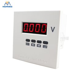 Wholesale Single Phase Voltage - ME-AV31J high quality 96*96 mm white and black AC single phase LED display panel voltage meter