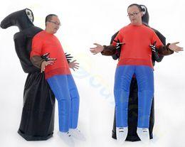 conejito conejo marioneta Rebajas Bar Show Show Fiesta de la escuela Fiesta de murciélago alas inflables disfraces de Halloween westernadult niños inflables Sumo Mascot Costume Onesie