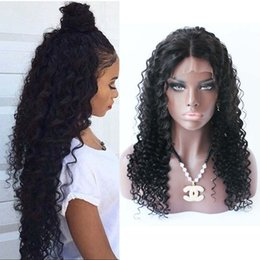 Wholesale Burmese Wavy - 180% Density water wave Full Lace wigs wet and wavy brazilian lace front wig with baby hair for black women
