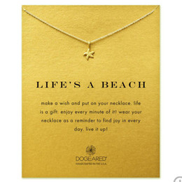 Wholesale Wholesale Beach Necklaces - StarFish Dogeared choker Necklaces(Life is a beach) infinity LOVE Friendship Anchor Balance Pendant Necklace Fashion women Jewelry