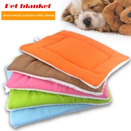 Wholesale Large Fleece Blankets Wholesale - Recommend All Seasons High Grade Soft Polar Fleece Cozy Blankets Pet Indoor Cushion dog Air Conditioning mat 5 color S-XL