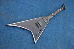 Wholesale Randy Custom - China Music Instruments Custom Jack Son Black Electric Guitar Randy Rhoads Flying V EMG Pickups String Thru Body
