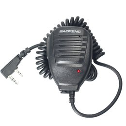 Wholesale Baofeng B6 - Wholesale- Baofeng Walkie TalkieTwo Way radio Handheld Microphone Speaker MIC for UV-5R Pofung UV 5R UV-B5 UV-B6 BF-888S BF-666S GT-3