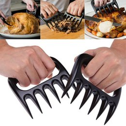 Wholesale Bbq Grill Gloves - New Grizzly Bear Paws Meat Claws Handler Fork Tongs Pull Shred Pork BBQ Barbecue Tools BBQ Grilling Accessories With Retail Box WX-C21