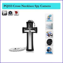 Wholesale Cross Camera Dvr - 8GB Cross Necklace Spy Camera HD cross pendant Hidden Digital Camcorder Mini DVR Camera & voice video Recorder In retail box