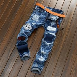 Wholesale Jeans Trousers Fashion Brands - Wholesale- Brand Designer Mens Biker Jeans Pants Fashion Moto Denim Joggers Male Slim Fit Hip Hop Jean Trousers Multi Zipper