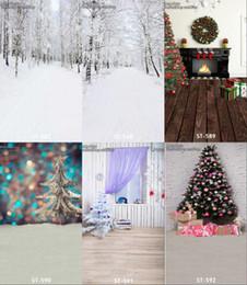 Wholesale Christmas Scenic Backdrops - wholesale custom 5x7ft forest snow scenic christmas backdrop for baby photos props digital photography background studio vinyl backdrops