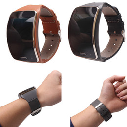 Wholesale Black Paradise - Wholesale-Paradise Fashion 1PC Genuine leather Watch Wrist Strap Band For Samsung Gear S SM-R750 Smart Free Shipping Sep7