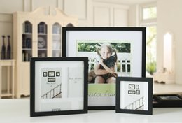 Wholesale Puzzles Europe - 10PCS LOT 13 Color Solid wooden picture frame hanging wall posters wholesale 13 inches square studio photographs puzzle decoration as frames