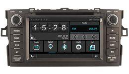 Wholesale Dual Din - Navirider car dvd play for Toyota Auris 2007 audio video headunit wince6.0 dual core 256MB Capactive touch 1080P DVR 3G WIFI TPMS GPS radio