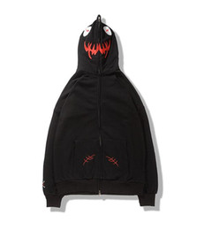 Wholesale Long Sleeve Cotton Zippered - The latest American kanye west hip hop funny vlone zippered hoodie coat skate board sweater high quality men and women students Free frei