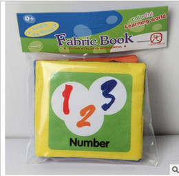 Wholesale Counting Books - 12 styles Baby cloth book for Early learning education cloth toys baby fabric book in english WD009AA
