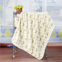 Wholesale Fleece Animal Throw - Comfortable blanket Europe and the United States hot cartoon animal patterns, blankets, 100*73cm, air-conditioning sofa, rest blankets,
