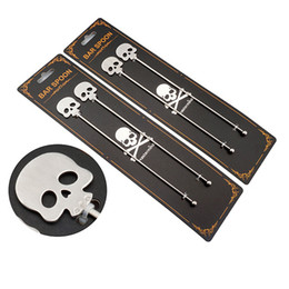 Wholesale Wholesale Cocktail Stirrers - Skull Coffee Stirrers Stainless Steel Tea  Coffee Stirring Spoon Cocktail Picks Bar Enjoy As Home Decor Or Party Pieces Stirrer Meaning