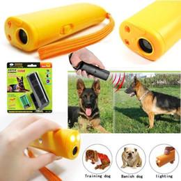 Wholesale Vibration Bark Control - LED Ultrasonic Anti Bark Barking Dog Training Repeller Control Trainer Device 3 In 1 Anti Barking Stop Bark Dog Training Device