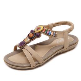 ausländische schuhe Rabatt Größe 42-45 Neue Nationale Frauen Sandalen Böhmen Wohnungen Perlen Größe Außenhandel Schuhe Sommer Schuhe Frauen Schuhe Heißer Verkauf
