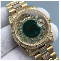 Wholesale Diamond Womens Watches - 2017 New diamonds Gold Men Watch Watches Steel diamond Dial Luxury AAA Mens Womens Ladies Automatic Iced Out Day Date Couples WristWatches