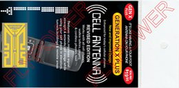Wholesale Generation X Plus X Plus New Shiny Cell phones Signal antenna amplifier booster sticker by