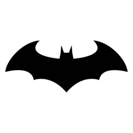 Wholesale Classic Car Windshield - 16.5*6.8CM Classic Batman Dark Knight Vinyl Car Styling Decal Motorcycle Car Stickers
