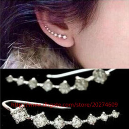 Wholesale Wholesales Rinestones - Hottest Earrings High Quality Women Jewelry Gold Silver Plated Earrings Stud Rinestones Metal Earrings cute Four Colors