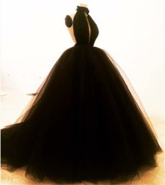 Wholesale Masquerade Deco - Plus Size Masquerade Bal Prom Gowns Puffy Sweet 16 Black Quinceanera Dresses 2018 Sexy Halter Dress For Evening Party Hot Custom Made