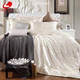 Wholesale Red Black Rose Sheets - Wholesale- Lifeng Home Jacquard bedding set 2017 New bed set super king bed linen set Luxury flat sheet 4pcs set duvet cover bedclothes bed