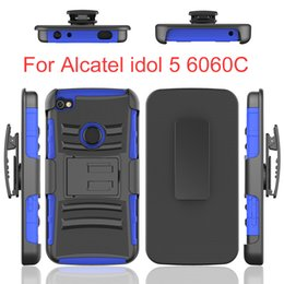 Wholesale One Touch Pc - PC+TPU Hybrid 3 in 1 Heavy Duty Design Armor Case with Kickstand For Alcatel One Touch POP C1 Astro Fierce D386 2 D475 Evolve D356 2 D483