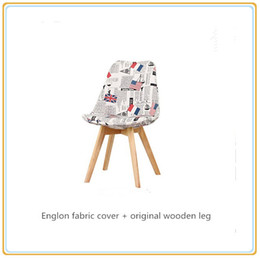 Wholesale Furniture Dining Chair - Home Chairs Home Furniture  Dining Chairs Chaise Restaurant Chairs Bakery Chairs with Englon Fabric Cover and Original Wooden Legs