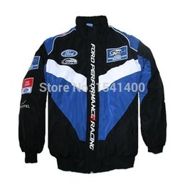 Wholesale Ford Gp - Wholesale- New Men's winter GP NEW Ford embroideried coat thick cotton zipper jacket long sleeves Windproof clothes