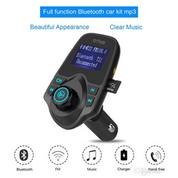 Wholesale Tf Car Gps - 2017 T11 Bluetooth Hands-free Car Kit With USB Port Charger And FM Transmitter Support TF Card MP3 Music Player