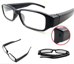 Wholesale Glass Cameras - 720*480 30fps Camera Eyewear Ultra-thin flat glasses on the left lens Hidden Spy Glasses camera Dvr Video & Audio Recorder Mini DV