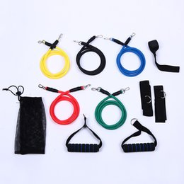 Cheap freeshipping-freeshipping - 11Pcs Set resistance bands Latex ABS Tube Resistance Band Set with Door Anchor, Ankle Strap, Exercise Chart & Resistance Band Carrying Case