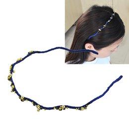 Wholesale Thin Rhinestone Headbands - New Coming Multicolors Rhinestone Thin Elastic Headbands for Women