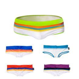 Wholesale Cool Swimming Trunks - Wholesale- Sexy Cool Mens Swim Wear Summer Style Swimming Trunks Beach Swimwear Men Swimming Shorts sizeS  M L XL  Free Shipping