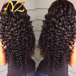 Wholesale French Front - Human Hair Wigs Lace Front Brazilian Malaysian Indian Curly Hair Full Lace Wig Remy Virgin Hair Lace Front Wigs For Black Women