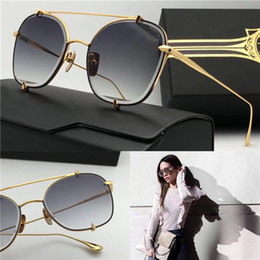 Wholesale Luxury brand designer sunglasses D T talon two metal square frame top quality uv400 protection sunglasses retro fashion style with box