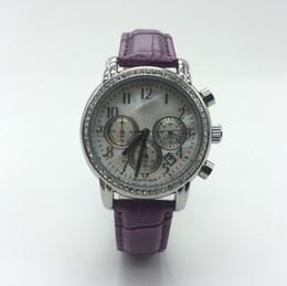 Wholesale Waterproof Watch 24 Hours - Swiss luxury brand Women Casual Quartz Watch Chronograph & 24 Hours Function leather Watches waterproof Women Jewelry relogios feminino