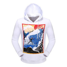 Wholesale Long Stocking Hats - Autumn And Winter New Long Sleeve Male Pure Cotton Hat Printing Sweater High Leisure Time In Stock