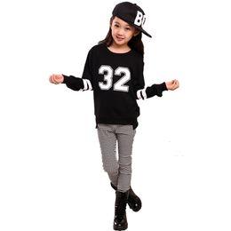 Wholesale Teenage Boys Winter Coats - Wholesale- 2016 Girls Sets Children Clothing Sportswear Kids Fashion Girls Sets Suits Children Coat Long Sleeve Tops + Teenage Pants 2 Pcs