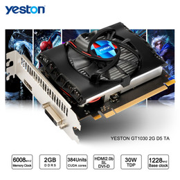 Wholesale Nvidia Pci Express 2gb - Yeston GeForce GT 1030 GPU 2GB GDDR5 64 bit Gaming Desktop computer PC Video Graphics Cards support