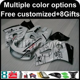 Wholesale 1996 Gsxr - 23colors+8Gifts WHITE Motorcycle Body Kit for Suzuki GSX-R600750 1996-2000 96 00 GSXR 600 1997 1998 1999 2000 ABS Plastic Fairing
