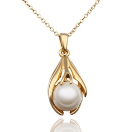 Wholesale Jewelry Box For Pearl Necklace - Gold statement necklaces & pendants pearls necklace jewelries accessories fashion jewelry for girls drop with gift box NK-164