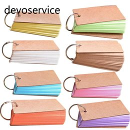 Wholesale Wholesale Note Cards Blank - Wholesale- 1PCS Cute Candy Color Blank Kraft Paper Memo Pads Portable Notepads Words Cards Kids Gift Stationery School Supplies