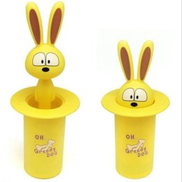 Wholesale Cute Toothpick Holders - Wholesale- Cartoon Cute Animal Tooth Pick Holder Toothpicks Box Cotton Bud Swab Container Random Colors HOBTZM-YQBox-01